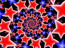 Stelle bianche & blu rosse Fotografie Stock