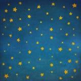 Stelle a cielo notturno, fondo Fotografie Stock Libere da Diritti