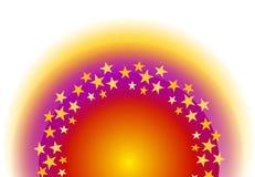 Stelle d'ardore del cerchio mezzo royalty illustrazione gratis
