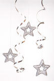 stelle d'argento Fotografie Stock Libere da Diritti