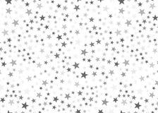 Stelle d'argento su fondo bianco Concetto festivo, della rete o del lusso di progetto grafico fotografie stock libere da diritti