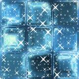 Stelle d'argento sul fondo blu astratto della finestra illustrazione vettoriale