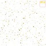 Stelle d'oro di caduta casuali su fondo bianco Modello f di scintillio royalty illustrazione gratis
