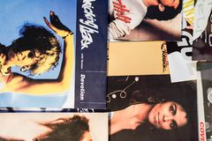 Stelle dai 90: s nell'industria musicale e nei film fotografie stock
