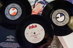 Stelle dai 90: s nell'industria musicale e nei film fotografia stock libera da diritti