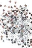 Stelle del sivler e dorate su fondo bianco Fotografia Stock Libera da Diritti