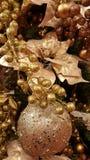 Stelle dell'argento del fondo delle decorazioni di Natale Fotografia Stock