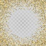 Stelle dell'oro 3d su fondo trasparente Immagini Stock Libere da Diritti