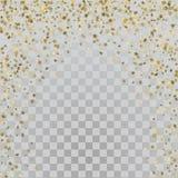 Stelle dell'oro 3d su fondo trasparente Fotografia Stock Libera da Diritti