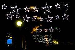 Stelle della luce di Natale Fotografia Stock