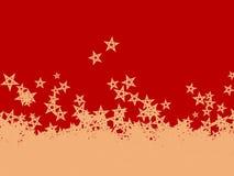 Stelle di caduta di Natale Immagine Stock Libera da Diritti