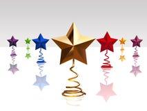 stelle di colore di natale 3d illustrazione di stock
