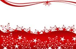 Stelle di colore rosso della cartolina di Natale Fotografia Stock Libera da Diritti