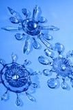 Stelle di cristallo, fiocchi di neve Immagine Stock