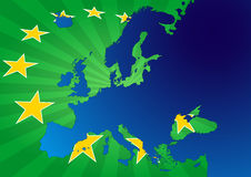Stelle di Europa Fotografia Stock Libera da Diritti