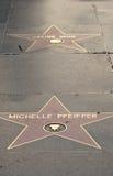 Stelle di Michelle Pfeiffer e di Celine Dion fotografia stock libera da diritti