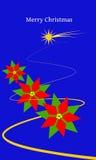 Stelle di Natale blu Royalty Illustrazione gratis