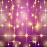 Stelle di porpora dell'oro di Natale Immagine Stock Libera da Diritti