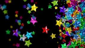 Stelle di vetro Colourful sui precedenti scuri illustrazione di stock