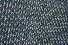 Stelle di vittoria al memoriale della seconda guerra mondiale Fotografie Stock Libere da Diritti