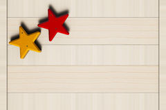 Stelle dipinte, chiodi e bordo di legno Fotografia Stock Libera da Diritti