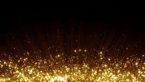 Stelle dorate su fondo nero illustrazione di stock
