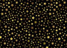 Stelle dorate su fondo nero Concetto festivo, della rete o del lusso di progetto grafico immagini stock libere da diritti