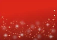 Stelle dorate su fondo rosso Fotografie Stock