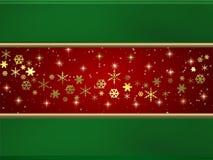Stelle e bandiera della neve Fotografie Stock Libere da Diritti