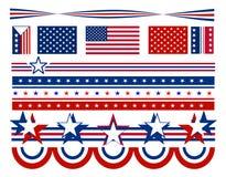 Stelle e barre patriottiche - S.U.A. Fotografie Stock