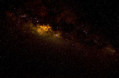 Stelle e fondo di notte del cielo dello spazio della galassia fotografia stock