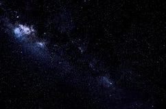 Stelle e fondo di notte del cielo dello spazio della galassia immagini stock