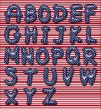 Stelle e fonte tipografica delle bande Fotografia Stock
