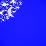 Stelle e luna Immagini Stock Libere da Diritti