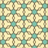 Stelle e modello geometrico dei poligoni Fotografie Stock
