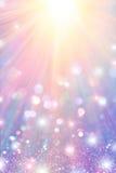 Stelle e scintilla dei raggi Fotografia Stock Libera da Diritti