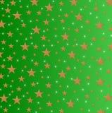 Stelle e scintille su fondo verde protetto Fotografia Stock Libera da Diritti