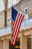 Stelle e streptococco dell'insegna a stelle e strisce della bandiera degli Stati Uniti d'America Fotografia Stock