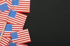 Stelle e strisce su una lavagna Fotografia Stock Libera da Diritti