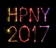 Stelle filante del fuoco d'artificio da 2017 buoni anni Fotografia Stock Libera da Diritti
