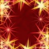 Stelle gialle sopra priorità bassa rossa royalty illustrazione gratis