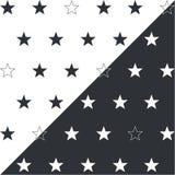 Stelle grigio scuro su un fondo bianco Fotografie Stock Libere da Diritti