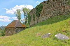 Stelle nahe Pernstejn-Schloss Süd-Moravian-Region, Tschechische Republik lizenzfreie stockfotografie