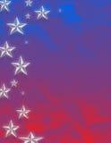 Stelle rosse, blu e bianche Immagini Stock Libere da Diritti