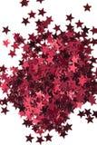 Stelle rosse su fondo bianco Fotografia Stock