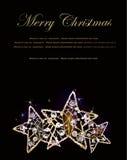 Stelle scintillanti del woth del fondo di Natale Fotografia Stock
