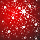 Stelle sopra colore rosso Fotografia Stock