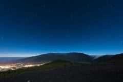 Stelle sopra La Palma Fotografie Stock