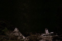 Stelle sopra Palenque Fotografia Stock