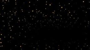 Stelle sul fondo nero di notte Fotografia Stock Libera da Diritti